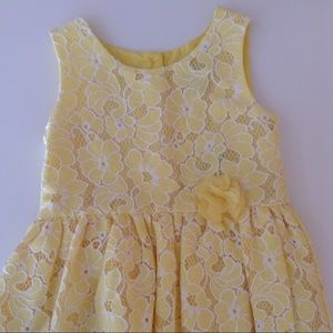 Children's Place Yellow Sleeveless Dress